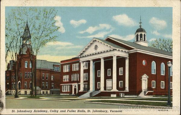 St. Johnsbury Academy, Colby and Fuller Halls St Johnsbury, VT