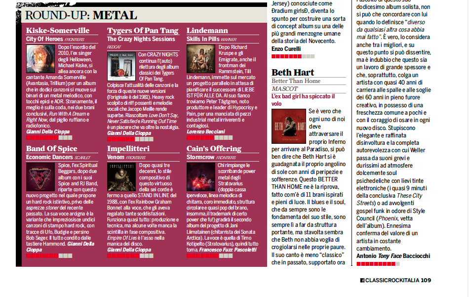Classic Rock Italy: Better Than Home album review | Beth